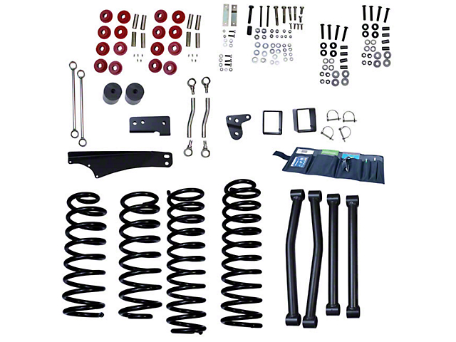 Rugged Ridge 4-Inch Suspension Lift Kit (07-18 Jeep Wrangler JK)