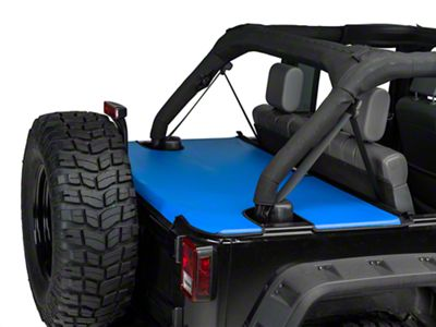 JTopsUSA Tonneau Cover - Blue (07-18 Jeep Wrangler JK 4 Door)