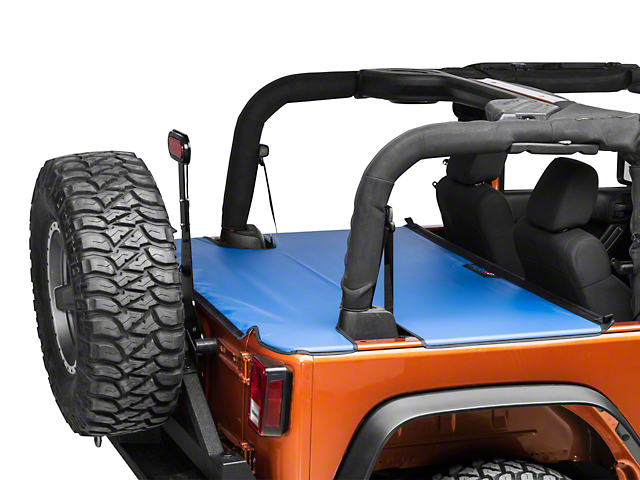J Tops USA Tonneau Cover - Blue (07-18 Wrangler JK 2 Door)