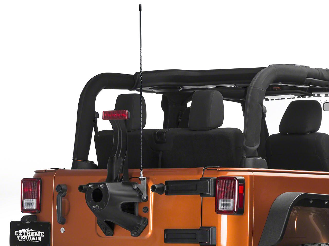 Mopar CB Antenna Mount Kit w/ Jeep Logo Antenna (07-17 Wrangler JK)