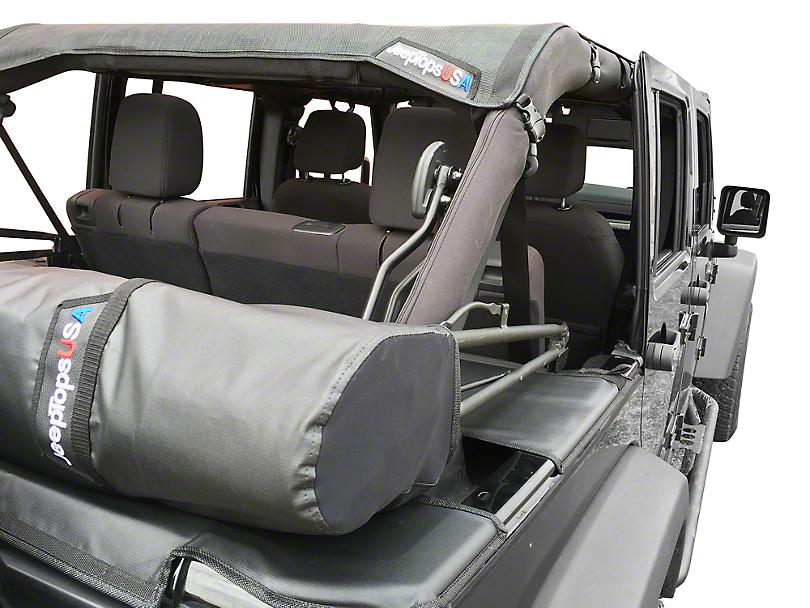 Safari Shade Top Set with Tonneau and Boot; Black (07-18 Jeep Wrangler JK 4 Door)