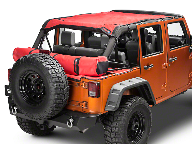 JTopsUSA Safari Shade Top Set with Tonneau and Boot; Red (07-18 Jeep Wrangler JK 4 Door)