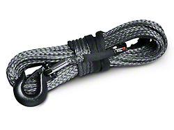 Rugged Ridge 23/64-Inch x 100-Foot Dark Gray Synthetic Winch Line; 16,550 lb.
