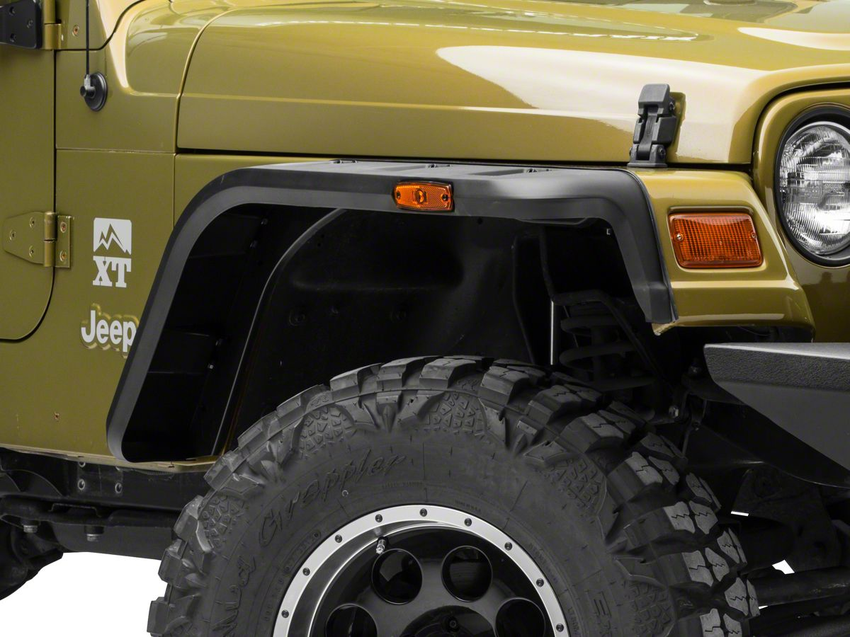 Jeep Tj Fender Flares >> Rugged Ridge Hurricane Fender Flares 97 06 Jeep Wrangler Tj