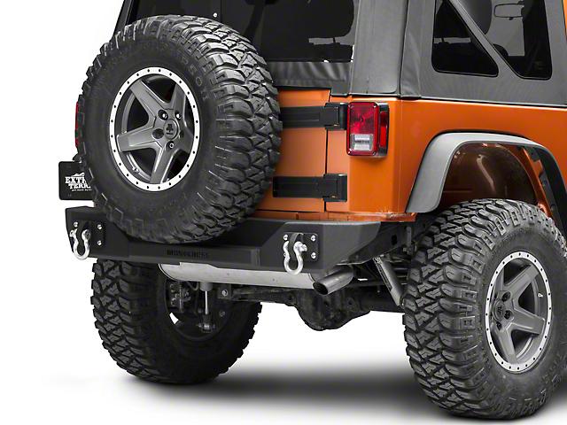 Iron Cross Stubby Rear Bumper; Matte Black (07-18 Jeep Wrangler JK)
