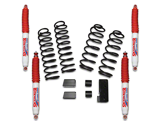 SkyJacker 2.50-Inch Softride Suspension Lift Kit with Hydro Shocks (07-18 Jeep Wrangler JK 2 Door)