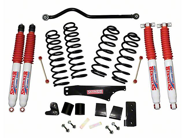 SkyJacker 3.5 in. Softride Lift Kit w/ Hydro Shocks & Adjustable Front Track Bar (07-18 Jeep Wrangler JK 2 Door)