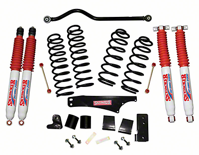 SkyJacker 3.5 in. Softride Lift Kit w/ Hydro Shocks & Adjustable Front Track Bar (07-18 Jeep Wrangler JK 2 Door)