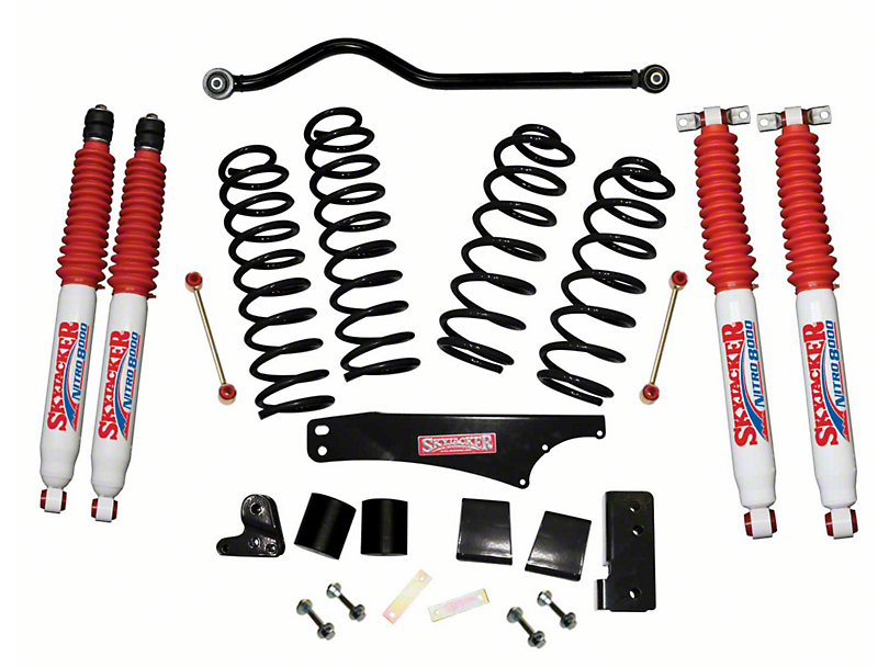 SkyJacker 3.5 in. Softride Lift Kit w/ Nitro Shocks & Adjustable Front Track Bar (07-18 Jeep Wrangler JK 2 Door)