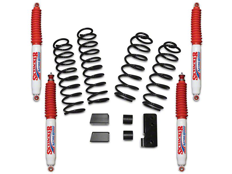 SkyJacker 2.50-Inch Softride Suspension Lift Kit with Nitro Shocks (07-18 Jeep Wrangler JK 4 Door)