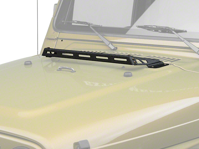 Rugged Ridge Hood Mounted Light Bar - Black (97-06 Jeep Wrangler TJ)