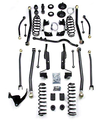 Teraflex 4 in. Elite LCG Long Arm Suspension System w/o Shocks (07-18 Jeep Wrangler JK 4 Door)