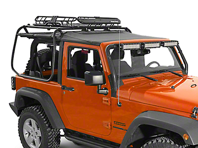 Rugged Ridge Spartacus Roof Rack Basket - Black (87-18 Jeep Wrangler YJ, TJ, JK & JL)