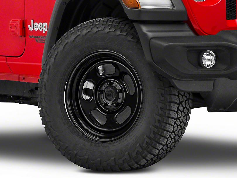 Rugged Ridge Trail Runner Classic Black Steel Wheel w/o Center Cap - 17x9 (18-19 Jeep Wrangler JL)