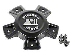 Rugged Ridge Trail Runner Classic Steel Wheel Center Cap; Black (18-21 Jeep Wrangler JL)