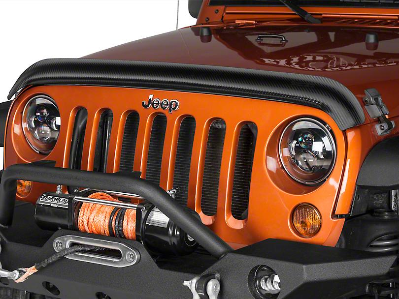 Rugged Ridge Bug Deflector - Carbon Fiber (07-18 Jeep Wrangler JK)