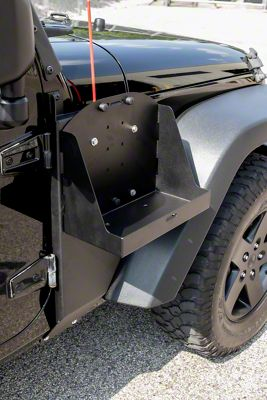 MORryde Jerry Can Side Mount Tray - Driver Side (07-18 Jeep Wrangler JK)
