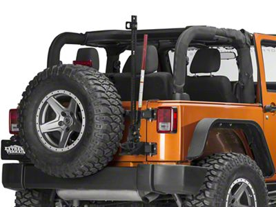 MORryde Hi-Lift Jack Carrier for Heavy Duty TailGate Hinges (07-18 Jeep Wrangler JK)