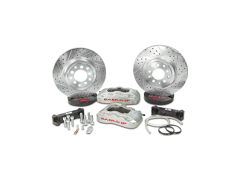 Baer Pro Front Big Brake Kit; Silver Calipers (07-18 Jeep Wrangler JK)