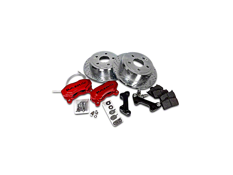 Baer SS4 Rear Big Brake Kit; Red Calipers (07-18 Jeep Wrangler JK)