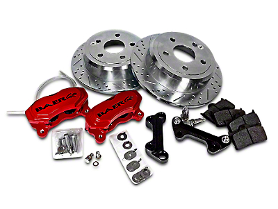 Baer 12 in. Rear SS4 Brake System - Red (07-18 Wrangler JK)