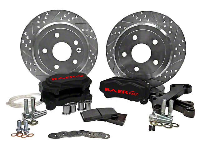 Baer SS4 Rear Big Brake Kit; Black Calipers (07-18 Jeep Wrangler JK)