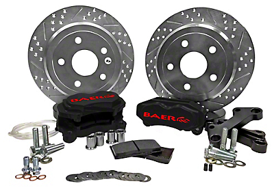 Baer 12 in. Rear SS4 Brake System - Black (07-18 Jeep Wrangler JK)