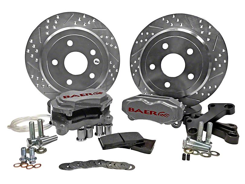 Baer SS4 Rear Big Brake Kit - Silver Calipers (07-18 Jeep Wrangler JK)