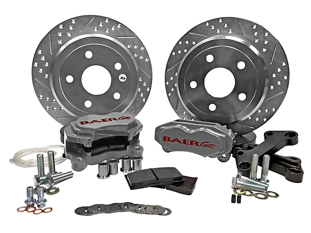 Baer SS4 Rear Big Brake Kit; Silver Calipers (07-18 Jeep Wrangler JK)