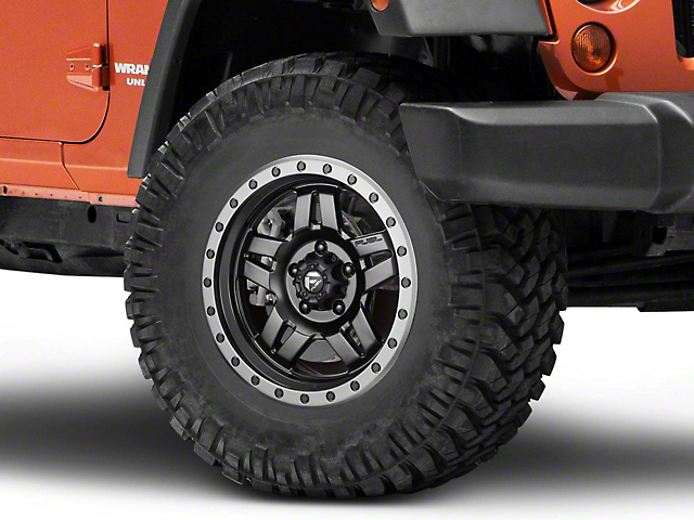 Fuel Wheels Matte Black ANZA Wheel - 17x8.5 (07-18 Wrangler JK; 2018 Wrangler JL)