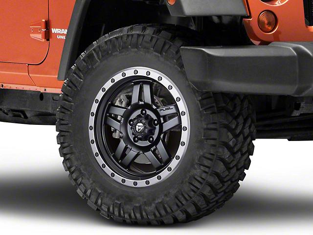 Fuel Wheels Anza Matte Black Wheel; 18x9 (07-18 Jeep Wrangler JK)