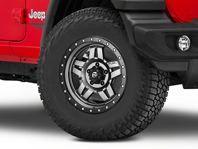 Fuel Wheels Anza Matte GunMetal Wheel - 17x8.5 (18-20 Jeep Wrangler JL)
