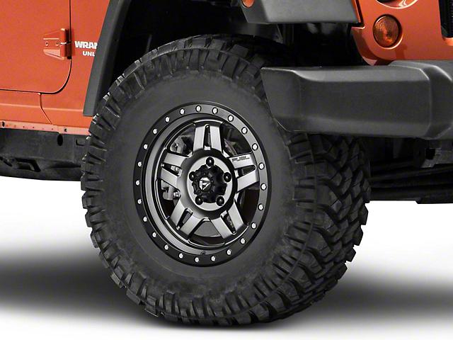 Fuel Wheels Anza Matte GunMetal Wheel; 17x8.5 (07-18 Jeep Wrangler JK)