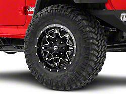 Fuel Wheels Lethal Matte Black Milled Wheel; 17x9 (18-20 Jeep Wrangler JL)