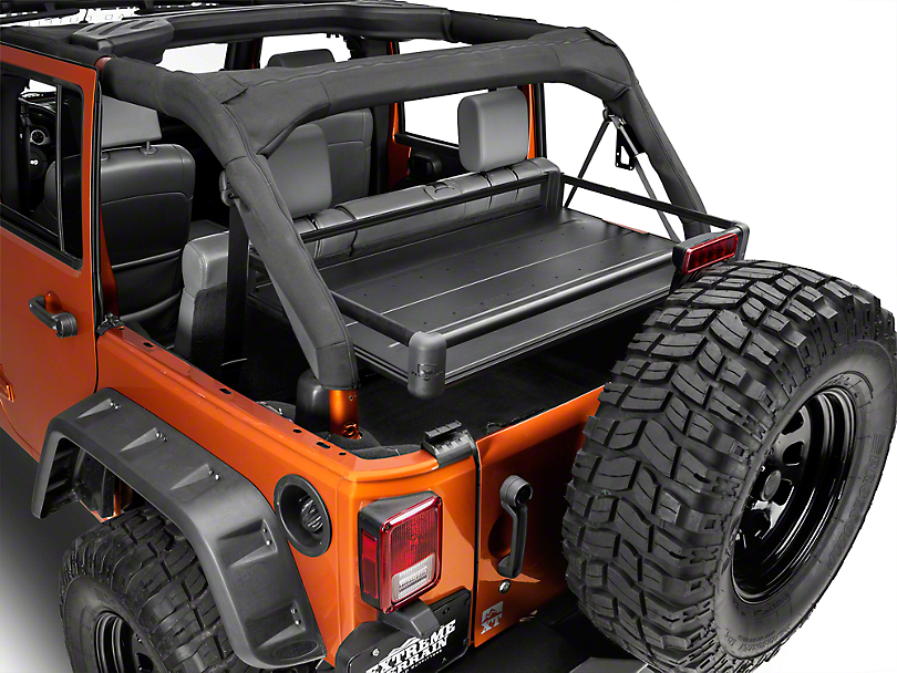 Teraflex Rear Utility Cargo Rack   Black (07 18 Jeep Wrangler JK 4 Door
