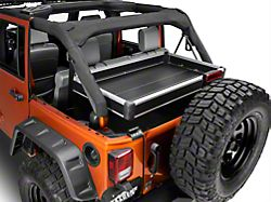 Teraflex Rear Cargo Rack Side Panel Kit - Black (07-18 Jeep Wrangler JK 4 Door)