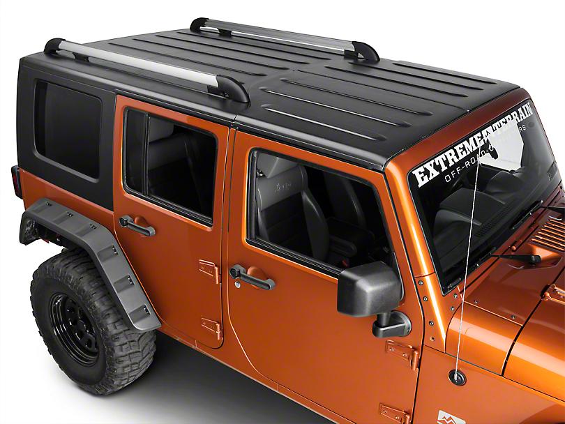 Teraflex Nebo Roof Rack Main Rail Kit - Silver (11-18 Jeep Wrangler JK 4 Door)