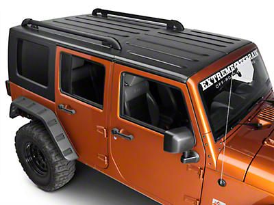 Teraflex Nebo Roof Rack Main Rail Kit - Black (11-18 Jeep Wrangler JK 4 Door)