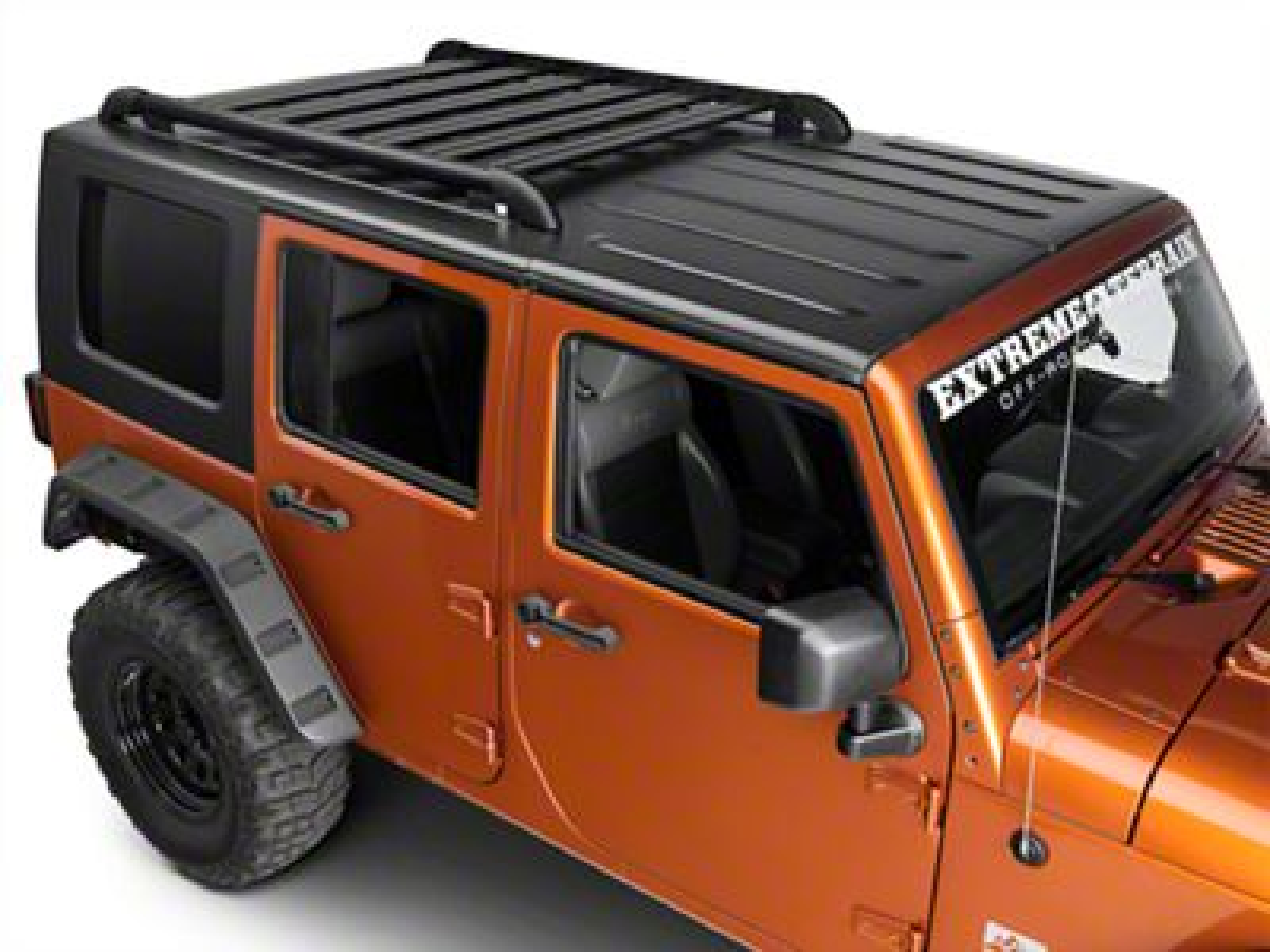 Teraflex Nebo Roof Rack Cargo Slat Kit - Black (07-18 Jeep Wrangler JK 4 Door)