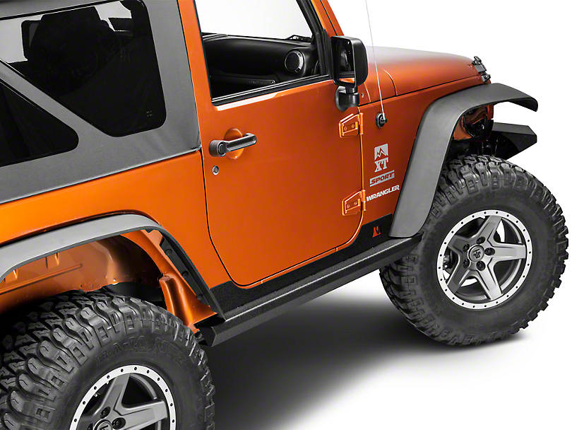 Rugged Ridge XHD Rock Sliders (07-18 Jeep Wrangler JK)