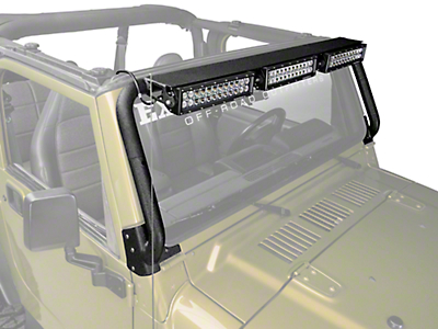 Rugged Ridge 13.5 in. LED Light Bars w/ Windshield Mounted Light Bar (97-06 Jeep Wrangler TJ)