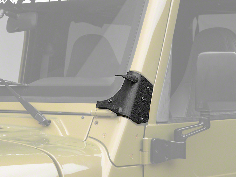 Rugged Ridge Dual A-Pillar Light Mounting Brackets (97-06 Jeep Wrangler TJ)