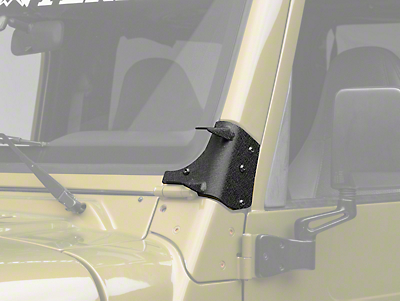 Rugged Ridge Dual A-Pillar Light Mounting Brackets (97-06 Jeep Wrangler TJ)