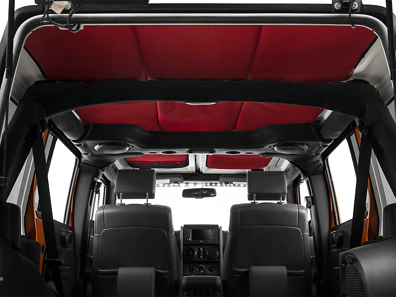 JTopsUSA Headliner - Red (07-10 Jeep Wrangler JK 4 Door)