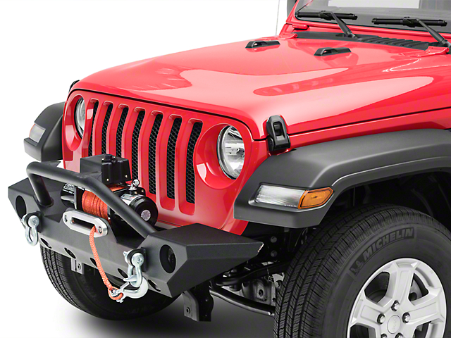 Barricade Trail Force HD Front Bumper with 9,500 lb. Winch (18-20 Jeep Wrangler JL)