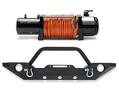 Barricade Trail Force HD Front Bumper & Winch Combo (07-18 Jeep Wrangler JK)
