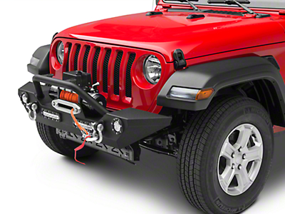 Barricade Trail Force HD Front Bumper w/ LED Lights & Winch Combo (2018 Wrangler JL)