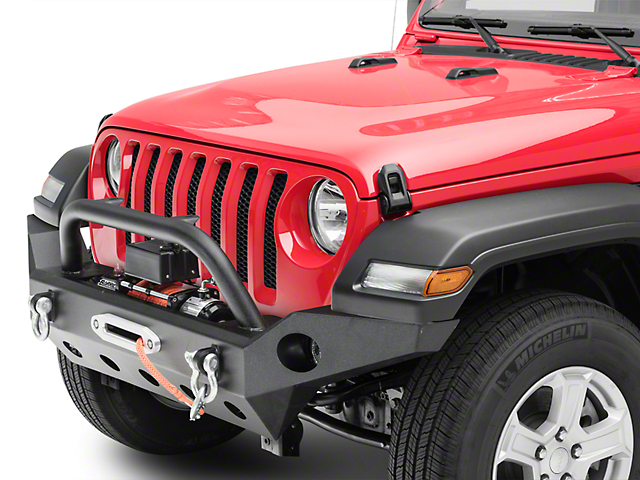 Barricade Trail Force HD Full Width Front Bumper & Winch Combo (18-20 Jeep Wrangler JL)