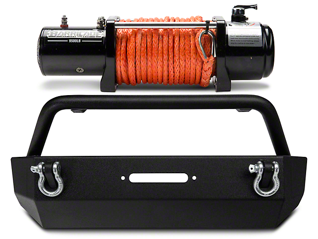 Barricade Extreme HD Stubby Front Bumper & Winch Combo (07-18 Jeep Wrangler JK)