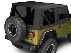 Factory Replacement Soft Top with Tinted Windows; Black Denim (97-06 Jeep Wrangler TJ w/ Half Doors, Excluding Unlimited)